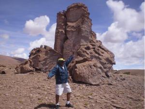 Terreno árido no Deserto de Atacama