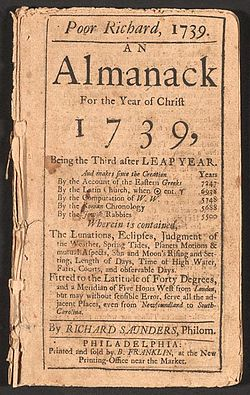 250px-Poor_Richard_Almanack_1739